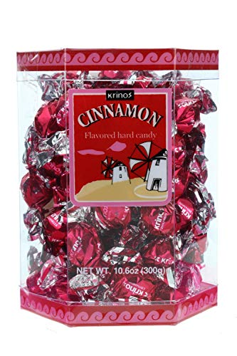 Cinnamon Flavored Hard Candy - Krinos - 10.6 Oz Box