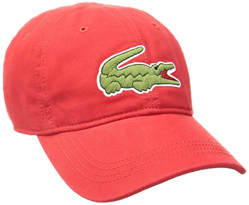 Lacoste Men's Classic Large Croc Gabardine Cap, Red, for sale  Delivered anywhere in USA
