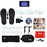 DR-HO'S Pain Therapy System Pro Ultimate Package TENS Machine Unit - 24 small pads, 6 Large pads, 1 pair of Circulation Promoting Foot Massage Pads, Support Band & Magic Heat Pad