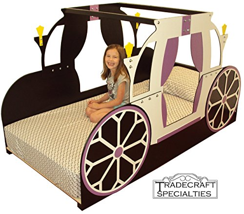 Princess carriage twin kids bed frame