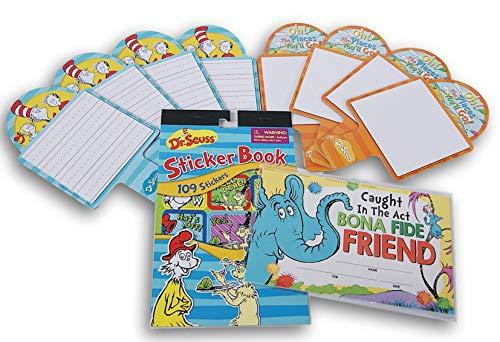Dr. Seuss Teacher Bundle - Sticker Book, Classroom Awards, Wipe Clean Paddles