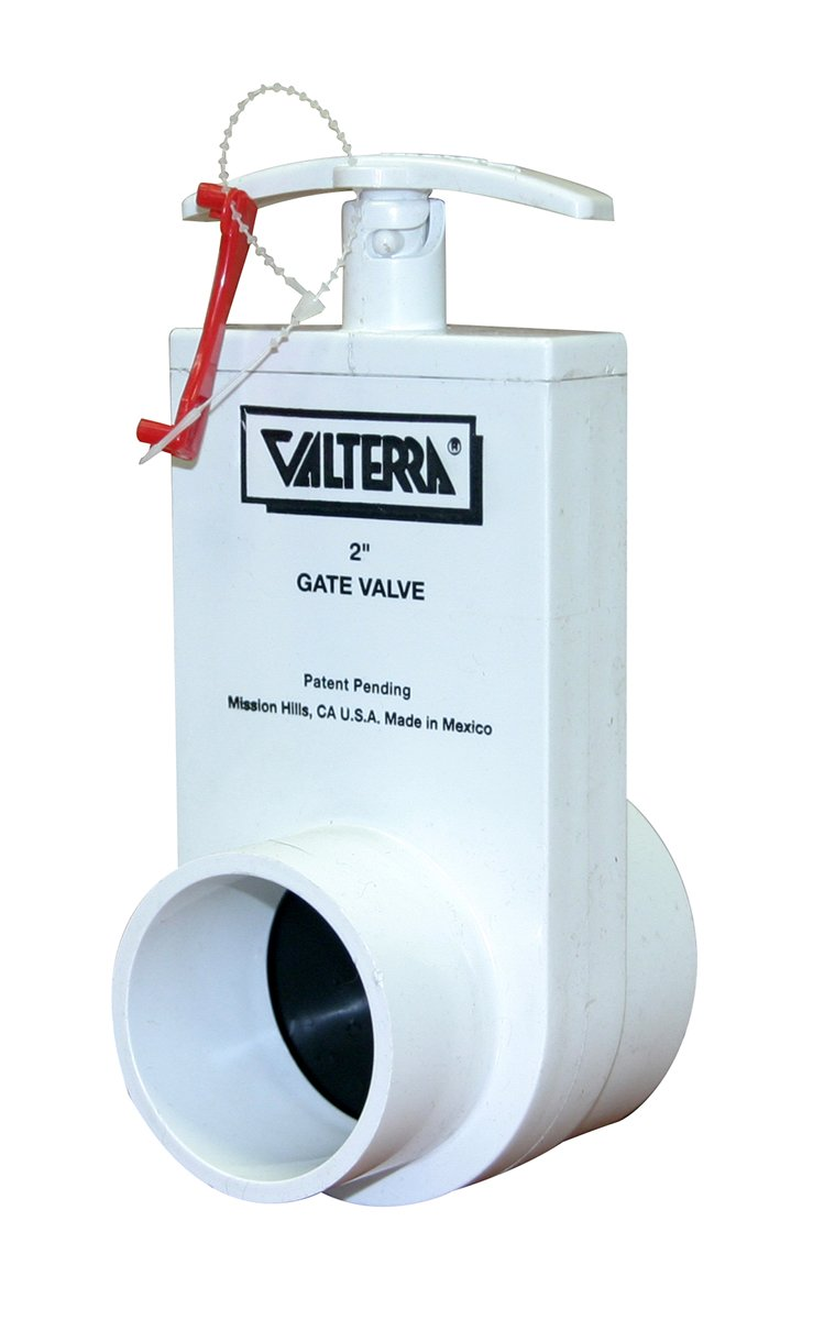 Valterra 2202X PVC Unibody Gate Valve, White, 2' Slip x Spigot w/Gate Keeper 2 Slip x Spigot w/Gate Keeper Valterra Products