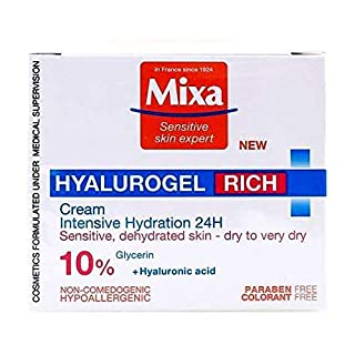 Mixa - HYALUROGEL - Intensive Moisturizing Cream with Hyaluronic Acid and Glycerin France Sensitive Skin Expert Since 1924