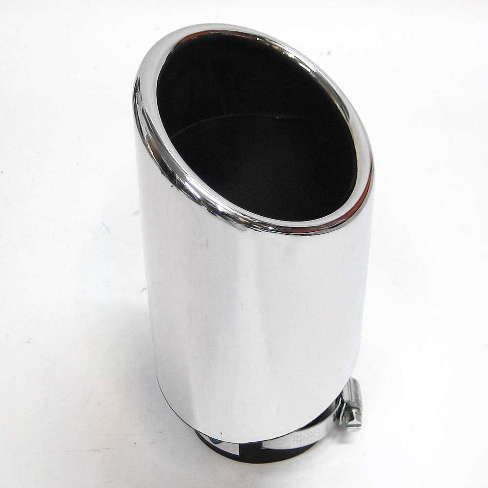 Universal 724 Car Exhaust Tip Trim Tail Performance Sport Muffler End Pipe Stainless Steel Chrome