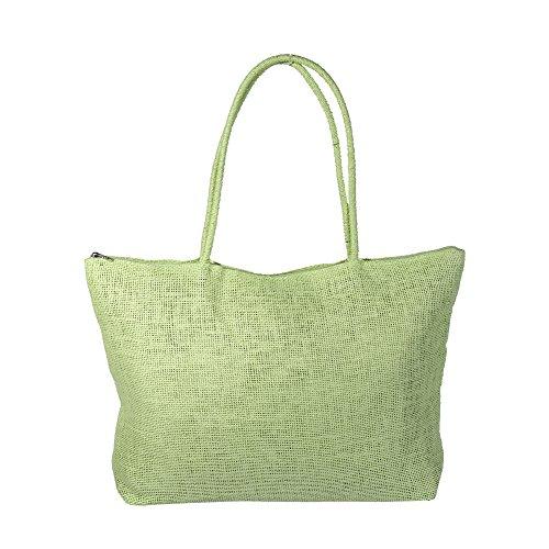 Women Simple Grass Bag Tote Shoulder Beach Beach Candy Weave Green Handbag Zerodis Shoulder Shoulder Color Bag Crossbody Black Beach Women Bag Straw Straw Straw Shoulder Bag qSnTXz