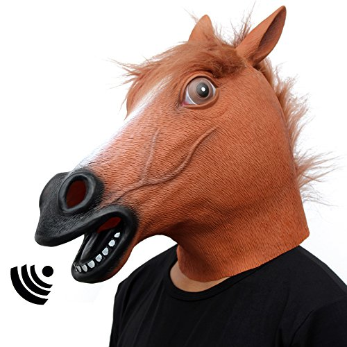 Make A Horse Head Costume (CreepyParty Novelty Halloween Costume Party Animal Head sounding Mask Brown Horse (sounding))