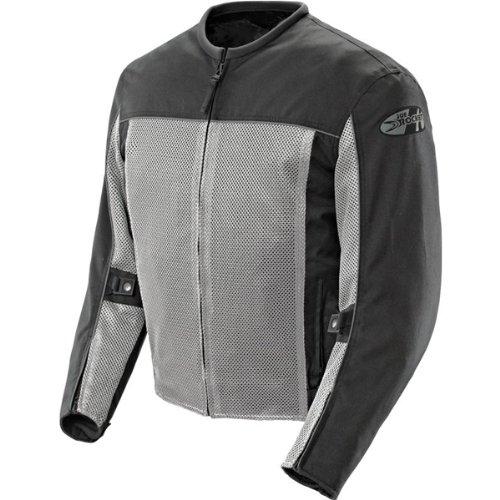 (Joe Rocket Velocity Mens Grey/Black Mesh Motorcycle Jacket - X-Large)