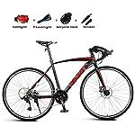 51msUMBrhzL. SS150 JXH Adulti Road Bike, Uomini Bicicletta da Corsa con Doppio Freno a Disco, ad Alta Acciaio al Carbonio Telaio da Strada…