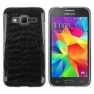 Paccase / Dura PC Caso Funda Carcasa de Protección para - Black Pattern Texture Textile Surface - Samsung Galaxy Core Prime SM-G360