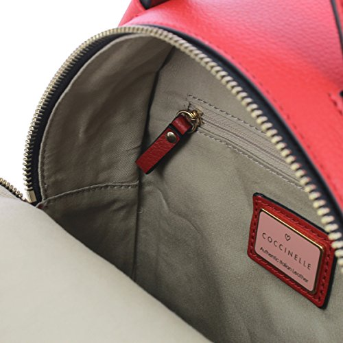 Rucksack in leather COQUELICOT