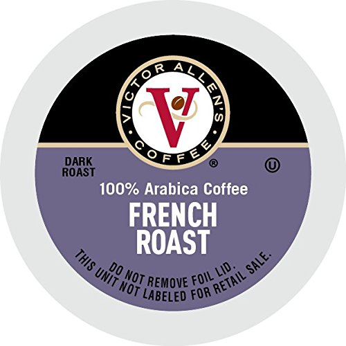 Victor Allen Coffee, French Roast Single Serve K-cup, 80 Count, 28.22 oz (Compatible with 2.0 Keurig Brewers)