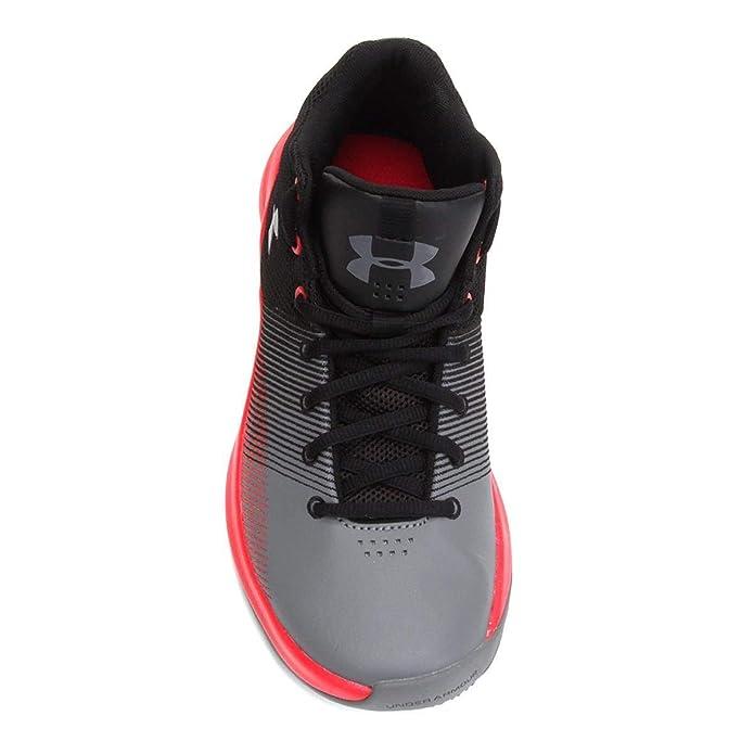 719c69a14fe0 Under Armour Men s UA Surge Black Pierce Zinc Gray 16 D US D (M)   Amazon.ca  Shoes   Handbags
