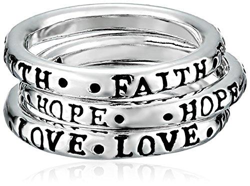 Bob Siemon Faith Hope Love Ring, Size 7