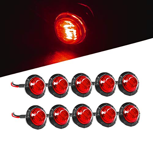 - Vouke 10pcs 3/4 inch Red Led Side Marker Light Led Marker Lights for Trailer Truck RV Car Bus Van Boat and More