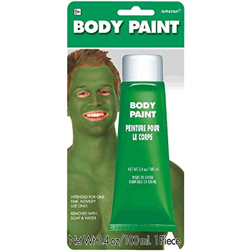 Amscan Body Paint, Party Accessory, Green
