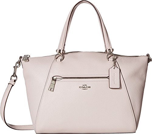COACH Women's Prairie Satchel in Polished Pebble Leather Sv/Ice Pink One ()