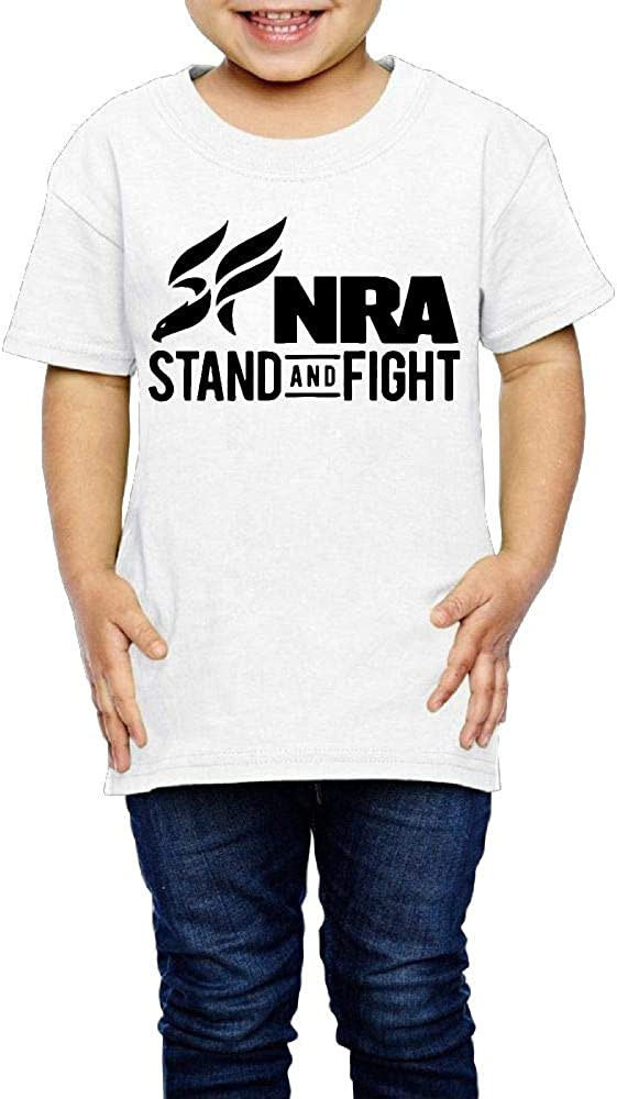 XYMYFC-E NRA Stand and Fight 2-6 Years Old Kids Short-Sleeved Tshirts