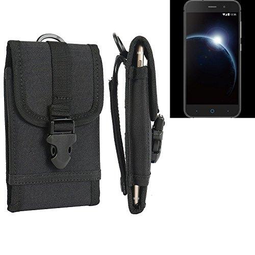 bolsa del cinturón / funda para ZTE Blade V6, negro | caja del teléfono cubierta protectora bolso - K-S-Trade (TM)