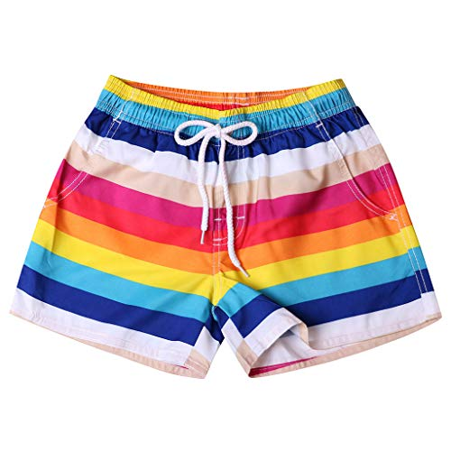 - Mens Boys Swim Trunks Beach Board Shorts Bathing Swimsuits Quick Dry with Mesh Lining
