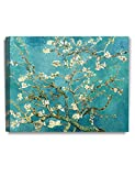 DecorArts- Almond Blossom Tree, Vincent Van Gogh Art Reproduction, Giclee Print on 100% cotton Canvas for Home Decor and Wall Decor 20x16''