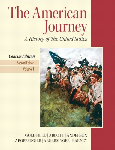 The American Journey: A History of the Unites States: 1