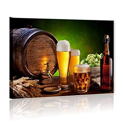 Birra 2 - Quadro Moderno 70 x 50 cm Stampa su Tela Canvas | Quadri Moderni  Cucina Rustica Vintage, Arredamento Ristorante, Bar, Pub, Decorazioni ...