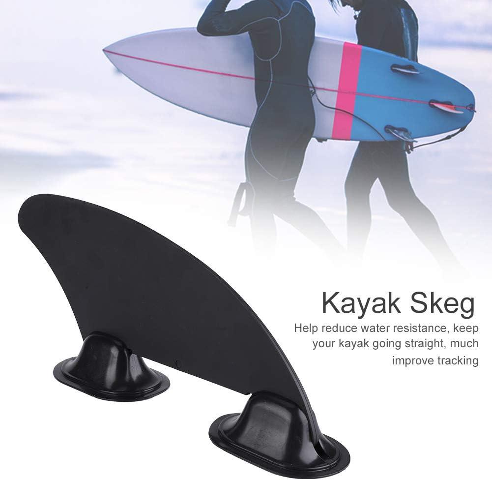 Yosoo Health Gear Kayak Skeg Tracking Fin Black Watershed Board Kayak Boats Canoe Accessory Tracking Fin Integral Fin Mounting Points