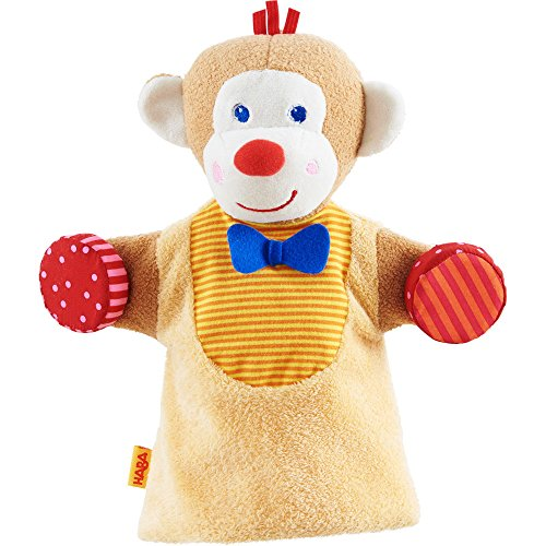HABA Monkey Musical Glove Puppet with Rattling Cymbals ()