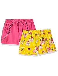 Limited Too Paquete de 2 Pantalones Cortos Estampados sólidos para niñas