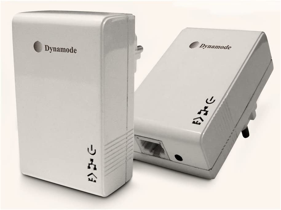 DYNAMODE HD Ready 500 Mbps Powerline Network Adapter Pack of 2 White