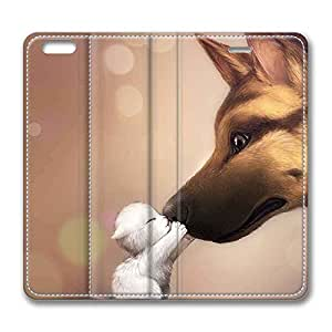 Brain114 5s, iPhone 5s Case, iPhone 5s Case, Cute Kiss PU Leather Flip Protective Skin Case for Apple iPhone 5s