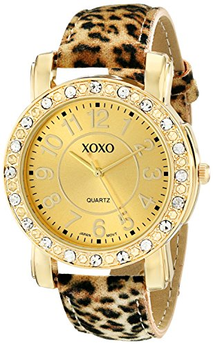 XOXO Women's XO3367 Leopard Patterned Strap Watch (For Watches Cheetah Women)