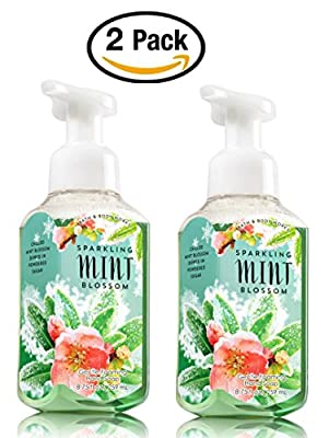 Bath & Body Works Sparkling Mint Blossom Hand Soap - Pack of 2 Gentle Foaming Hand Soaps