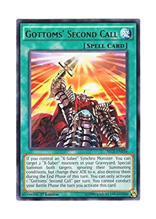 Yu-Gi-Oh! English Version SECE-EN 056 Gottoms 'Second Call Gatoms' Emergency Call (Rare) 1st Edition
