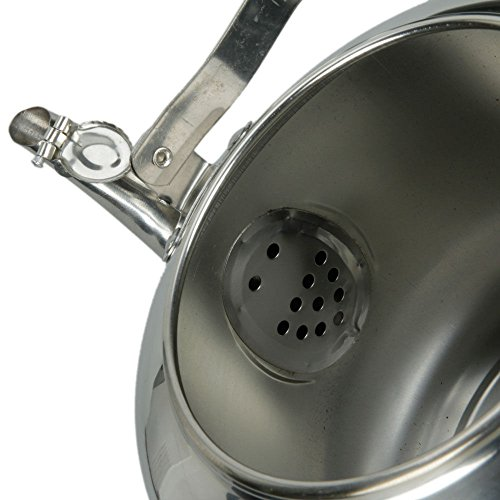 Stainless Steel Tea Kettle 4L Hot Water Stovetop Classic Design Hums When Water Boils by DINY Home & Style (Image #3)