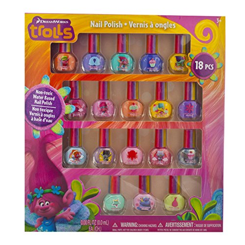 Trolls Peel-Off Nail Polish 18 piece