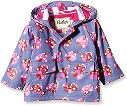Hatley Baby Ladybug Garden Infant Raincoat, Purple, 12-18 Months