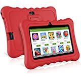 "7"" Kids Tablets, Android 7.1 RK3126C Quad Core, Ainol Q88 Kids Education Tablet with 1GB ROM+8GB RAM, Dual 0.3MP Cam,Portable Kid-Proof Shock-Proof Silicone Case for Kids Tablet PC(1GB, Red)"