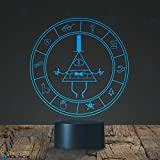 Gravity Falls Bill Cipher Wheel Lighting Decor Gadget Lamp , Awesome Gift (MT026)