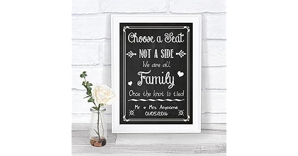 Amazon.com: Cartel de boda personalizable estilo pizarra con ...