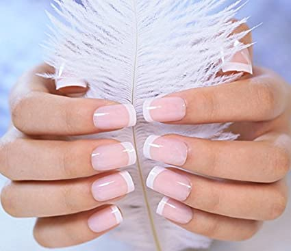 Generic Nude French Nude Pink Color False Nails Kit With Glue