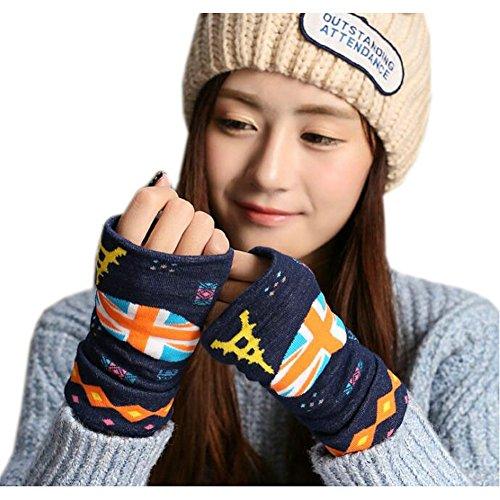 joyci-winter-womens-national-flag-knit-mitten-fingerless-union-jack-navy-blue