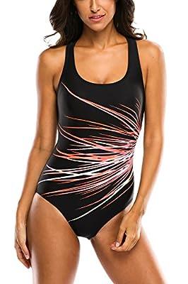 Charmleaks Women's Athletic One Piece Swimsuit Pro Swimwear Bathing Suit For Women