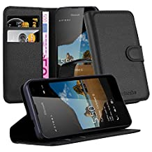 Cadorabo - Book Style Wallet Design for Nokia Lumia 550 with 2 Card Slots and Stand Function - Etui Case Cover Protection Pouch in OXID-BLACK