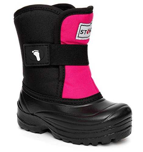 Stonz Scout Winter Boots for Cold Weather, Snow, Ice and Winter Sports - Insulated, Super Light & Warm - Pink/Black, 7T by Stonz (Image #8)