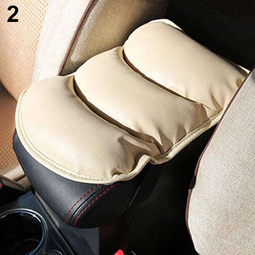 YUSHHO56T Car Seats Accessoires Armrest Pad Car Soft Faux Leather Armrest Consoles Seat Covers Pad Vehicle Cushion Pillow - Beige from YUSHHO56T