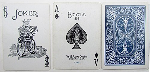 VINTAGE BICYCLE No.808 PLAYING CARDS RIDER BLUE BACK DECK