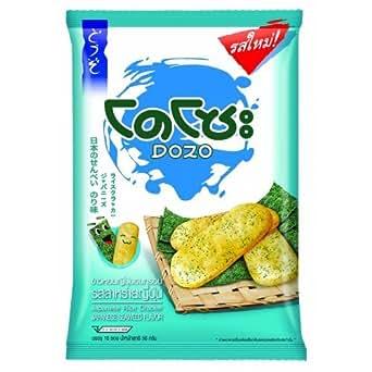 Amazon.com: Dozo Japanese Rice Crackers, Japanese Seaweed