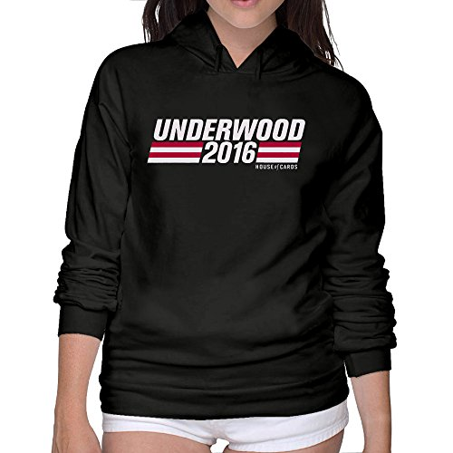 Lightweight 80's Juniors Women's House Of Cards Large Hooded Sweatshirt