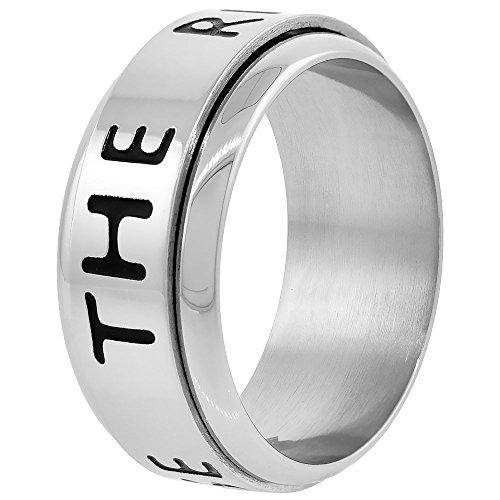 Surgical Stainless Steel 9mm CTR Spinner Ring Choose The Right Wedding Band, size (Mens Ctr Rings)